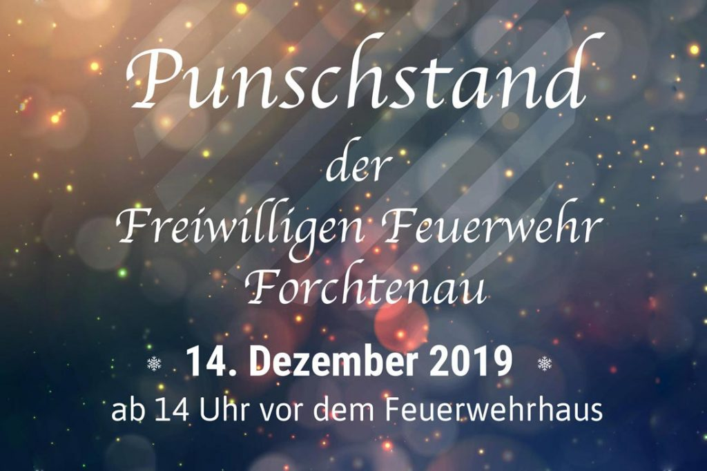 Punschstand 2019 der Freiwilligen-Feuerwehr Forchtenau, 2019